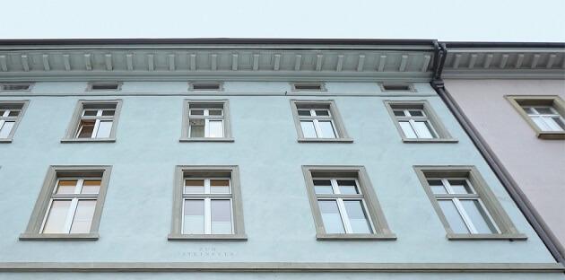 Außenfassade der Klinik für plastische, wiederherstellende und ästhetische Chirurgie in Winterthur